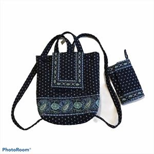 Vera Bradley Mimi Backpack and Wallet Seaport Navy